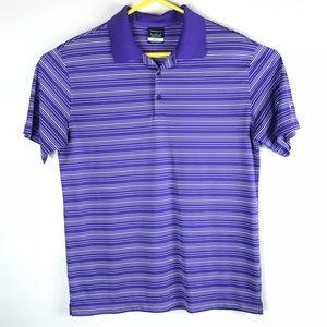Nike Golf Men's Medium Purple & White Striped Polo